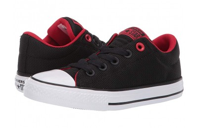 Christmas Deals 2019 - Converse Kids Chuck Taylor All Star Street Uniform - Slip (Little Kid/Big Kid) Black/Enamel Red/White