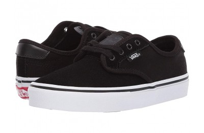 Vans Kids Chima Ferguson Pro (Little Kid/Big Kid) Black/True White Black Friday Sale