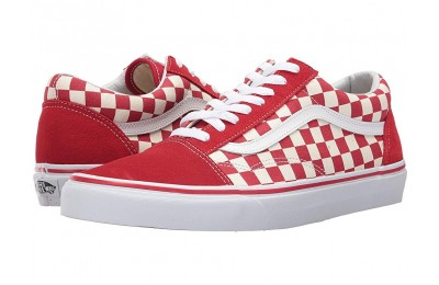 [ Black Friday 2019 ] Vans Old Skool™ (Primary Check) Racing Red/White