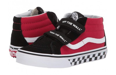 [ Hot Deals ] Vans Kids SK8-Mid Reissue V (Little Kid/Big Kid) (Logo Pop) Black/True White