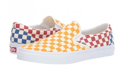 Christmas Deals 2019 - Vans Classic Slip-On™ (Checkerboard) Multi/True White