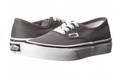 [ Black Friday 2019 ] Vans Kids Authentic (Little Kid/Big Kid) Pewter/Black