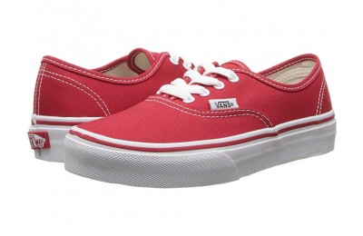 Vans Kids Authentic (Little Kid/Big Kid) Red/True White