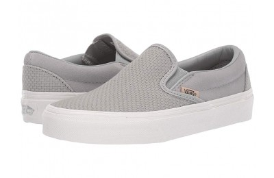 [ Hot Deals ] Vans Classic Slip-On™ (Woven Check) Belgian Block/Snow White