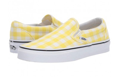 Vans Classic Slip-On™ (Gingham) Blazing Yellow/True White Black Friday Sale