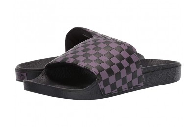 Vans Slide-On (Checkerboard) Black Plum/Black Black Friday Sale