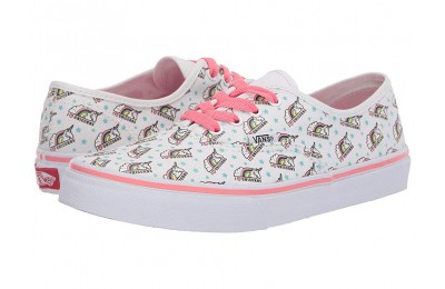 Vans Kids Authentic (Little Kid/Big Kid) (Unicorm) White/Strawberry Pink Black Friday Sale