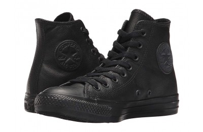 [ Hot Deals ] Converse Chuck Taylor® All Star® Leather Hi Black Mono Leather
