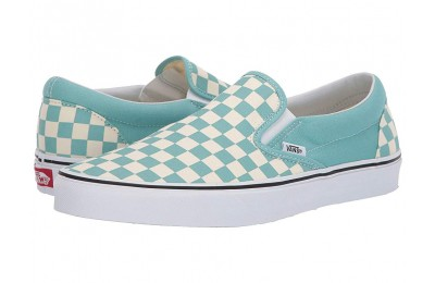[ Hot Deals ] Vans Classic Slip-On™ (Checkerboard)Aqua Haze/True White