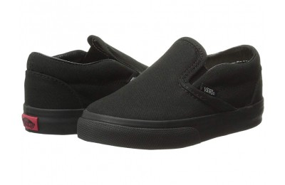 [ Black Friday 2019 ] Vans Kids Classic Slip-On Core (Toddler) Black/Black