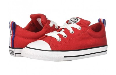 Hot Sale Converse Kids Chuck Taylor All Star Street Sport Webbing - Slip (Infant/Toddler) Enamel Red/Black/White
