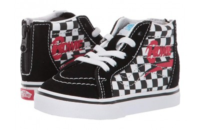 [ Black Friday 2019 ] Vans Kids Vans x David Bowie Sneaker Collab (Infant/Toddler) (Sk8-Hi Zip) Bowie/Checkerboard