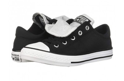 Converse Kids Chuck Taylor All Star Maddie Metallic - Slip (Little Kid/Big Kid) Black/White/White