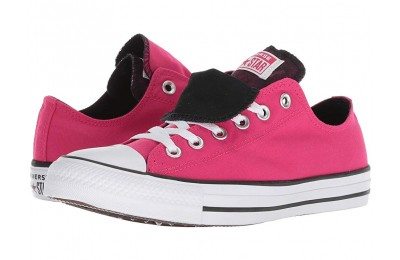 [ Hot Deals ] Converse Chuck Taylor All Star Double Tongue - Floral Ox Pink Pop/White/Black