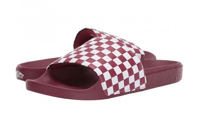 Vans Slide-On (Checkerboard) Rumba Red/White