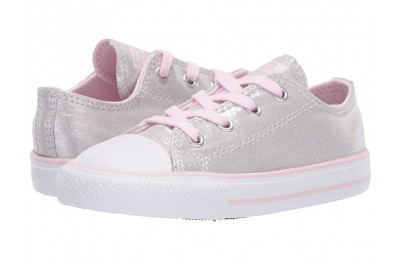 Converse Kids Chuck Taylor All Star Twilight Court - Ox (Infant/Toddler) Mouse/Pink Foam/White