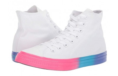 Christmas Deals 2019 - Converse Chuck Taylor All Star - Hi White/Racer Pink/Gnarly Blue