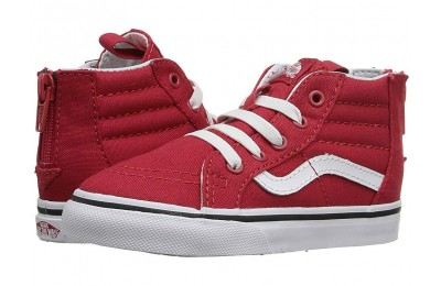 [ Hot Deals ] Vans Kids Sk8-Hi Zip (Toddler) (Varsity) Racing Red/True White