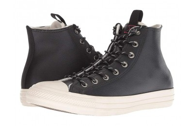 [ Hot Deals ] Converse Chuck Taylor All Star Leather - Hi Black/Driftwood/Driftwood