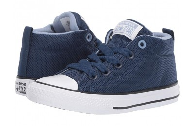 [ Hot Deals ] Converse Kids Chuck Taylor All Star Street Uniform - Mid (Little Kid/Big Kid) Navy/Indigo Fog/White