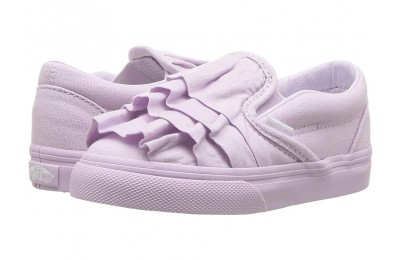 [ Hot Deals ] Vans Kids Classic Slip-On (Infant/Toddler) (Ruffle) Lavender Fog