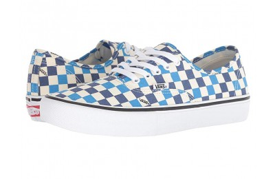 [ Hot Deals ] Vans Authentic™ Pro (Checkerboard) Classic White/Indigo Bunting