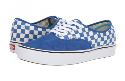 [ Hot Deals ] Vans ComfyCush Authentic (Checker) Lapis Blue/True White