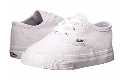 [ Hot Deals ] Vans Kids Authentic Core (Toddler) True White
