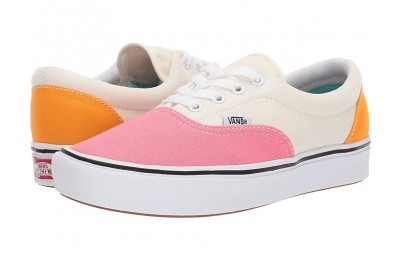 [ Hot Deals ] Vans ComfyCush Era (Canvas) Strawberry Pink/Zinnia/True White