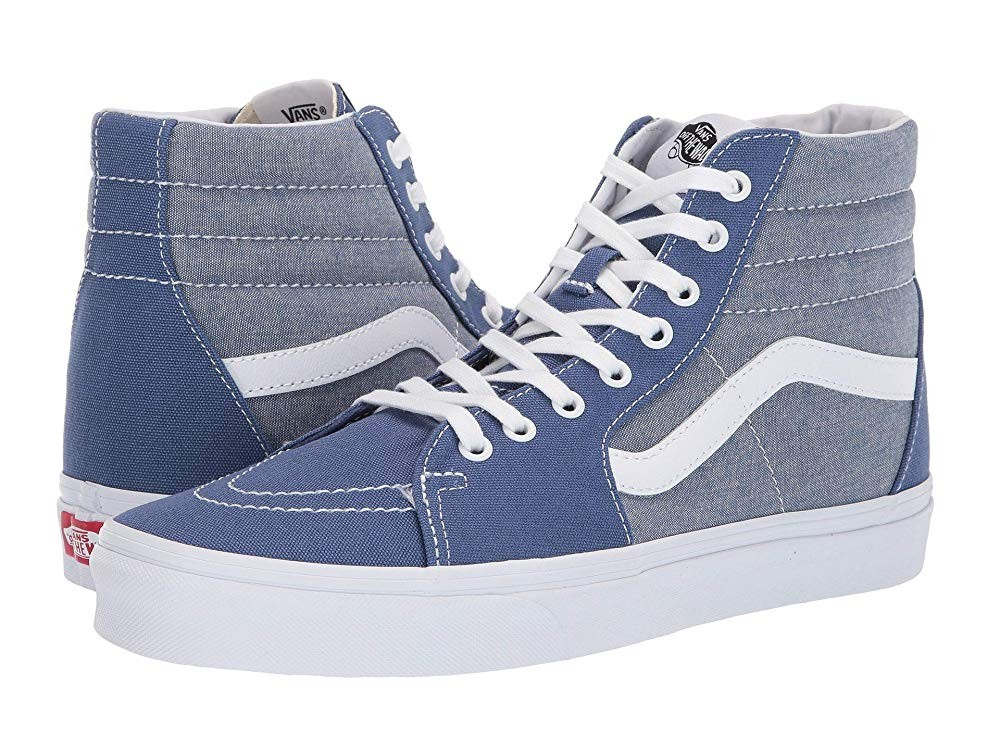 Vans SK8-Hi™ (Chambray) Canvas True Navy/True White