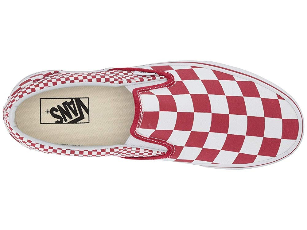 [ Hot Deals ] Vans Classic Slip-On™ (Mixed Checker) Chili Pepper/True White