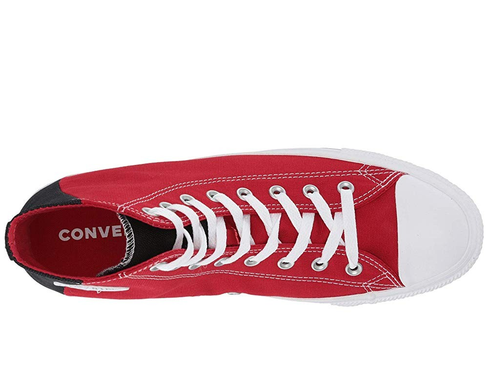 [ Hot Deals ] Converse Chuck Taylor® All Star® Color Block Patch Hi Enamel Red/Black/White