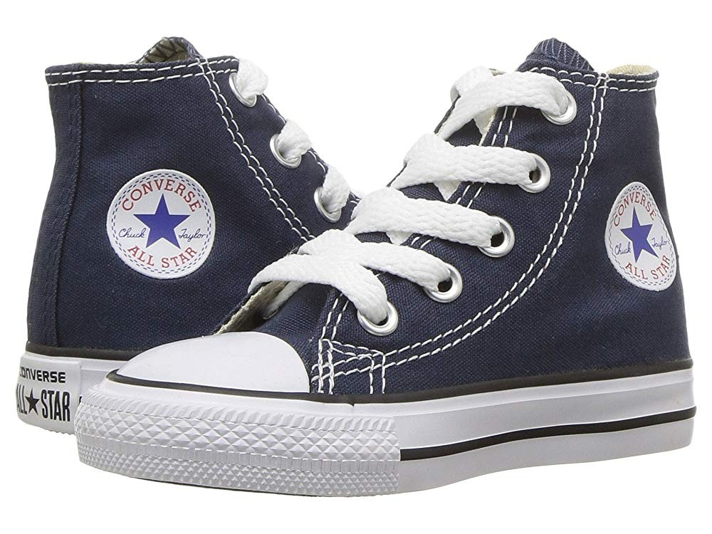 Christmas Deals 2019 - Converse Kids Chuck Taylor® All Star® Core Hi (Infant/Toddler) Navy
