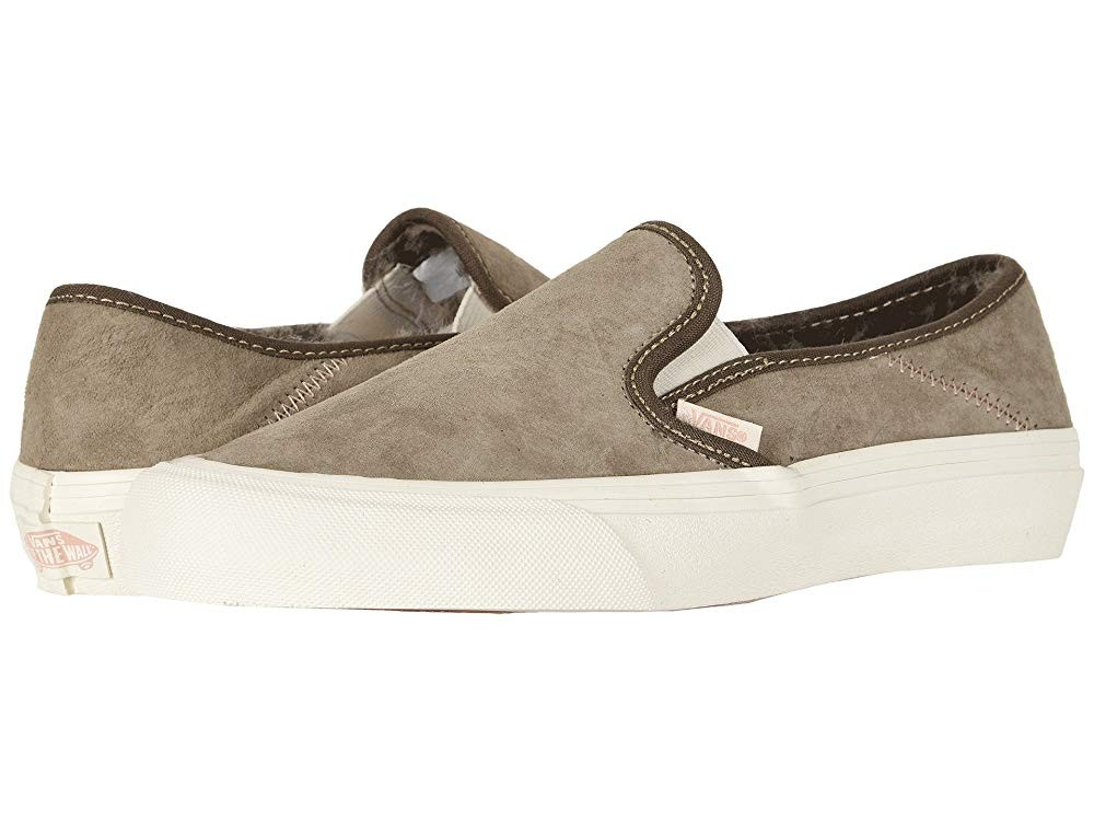 [ Hot Deals ] Vans Slip-On SF (Wolf Pack) Desert Taupe
