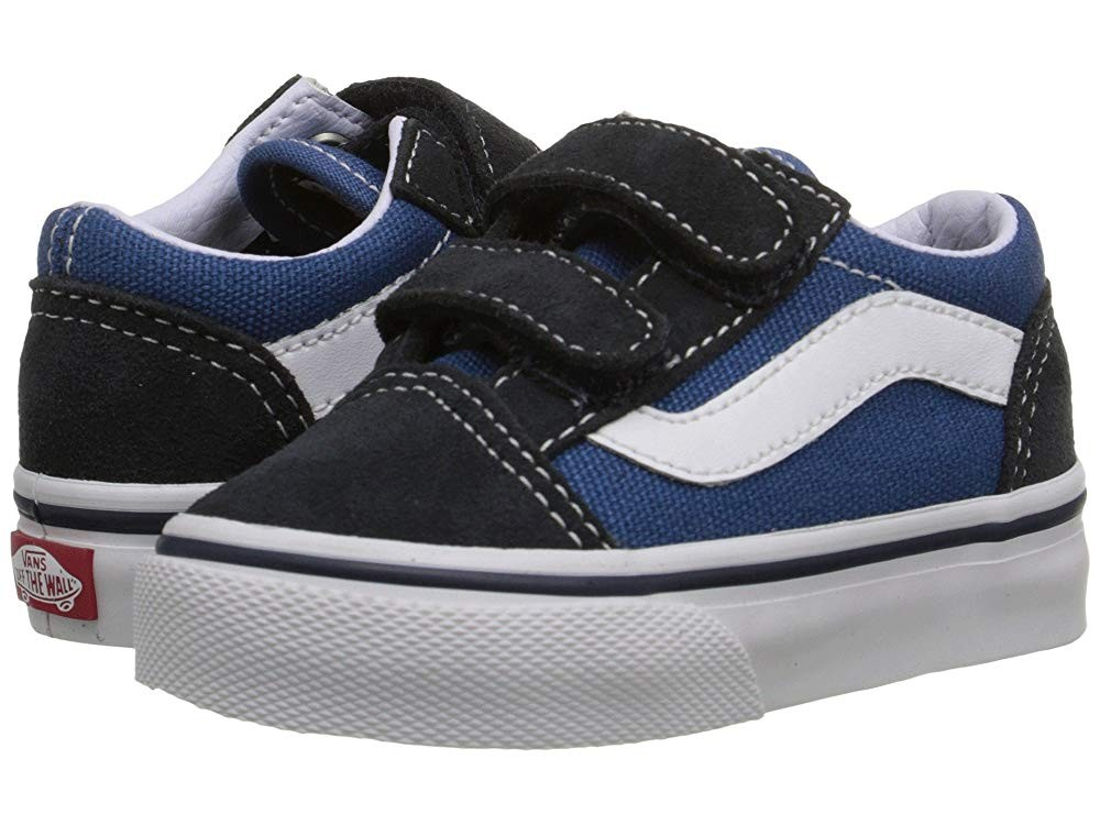Vans Kids Old Skool V Core(Toddler) Navy Black Friday Sale