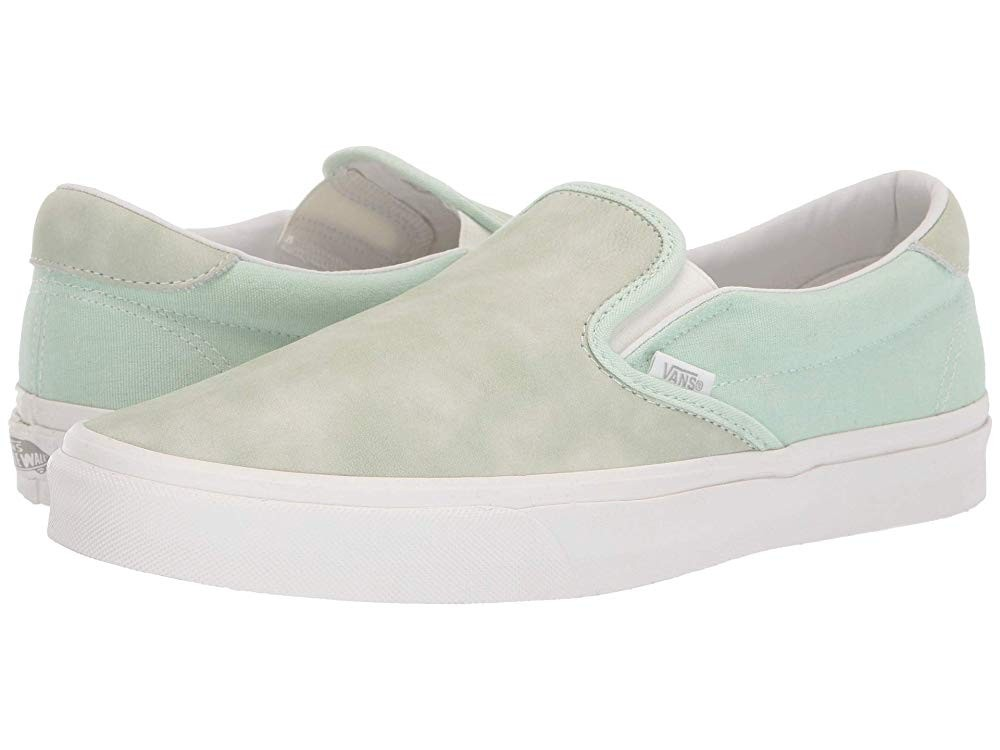 [ Hot Deals ] Vans Slip-On 59 (Washed Nubuck/Canvas) Pastel Green/Blanc