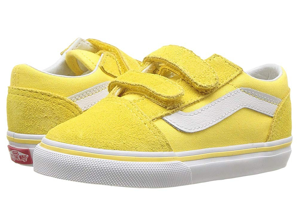 [ Hot Deals ] Vans Kids Old Skool V (Toddler) Aspend Gold/True White