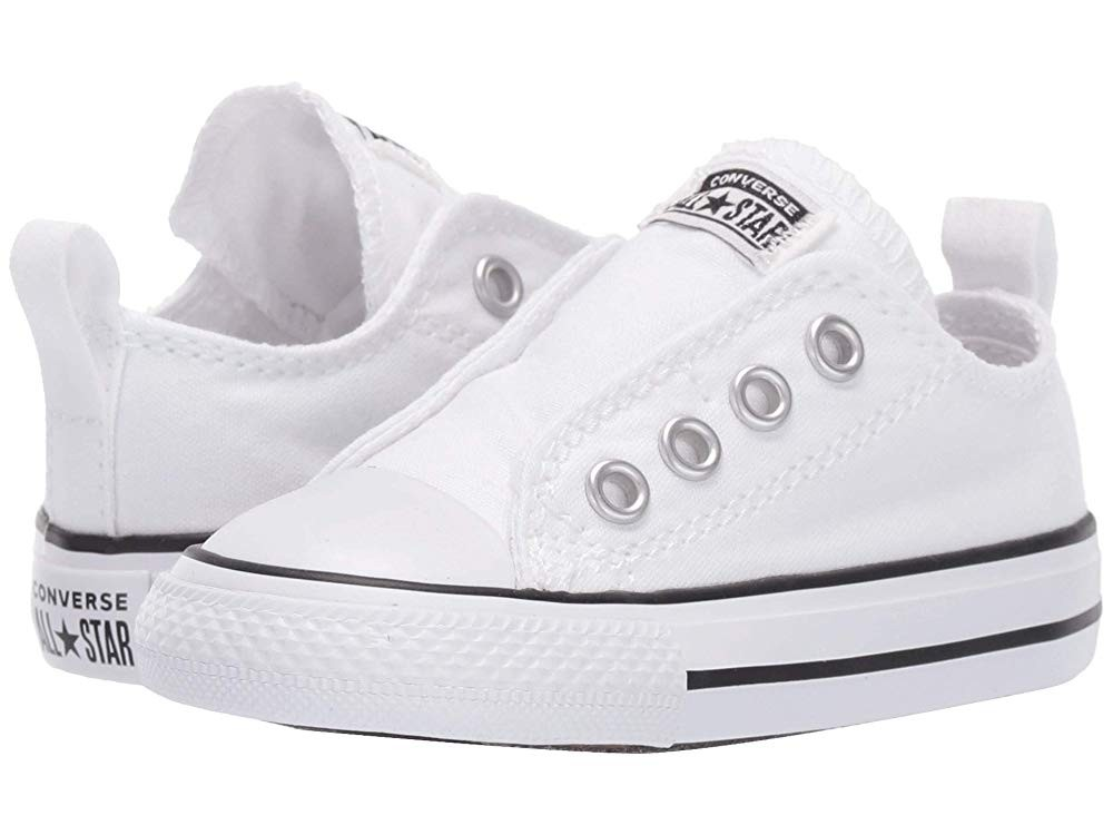 [ Hot Deals ] Converse Kids Chuck Taylor® All Star® Core Slip (Infant/Toddler) White/Black/White