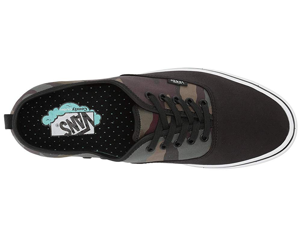 [ Hot Deals ] Vans ComfyCush Authentic SF (Camo) Black/Green