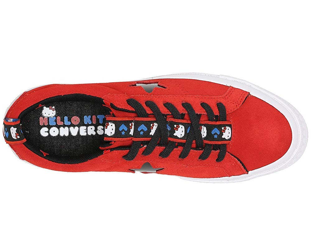 [ Hot Deals ] Converse Hello Kitty® One Star Ox Firey Red/Black