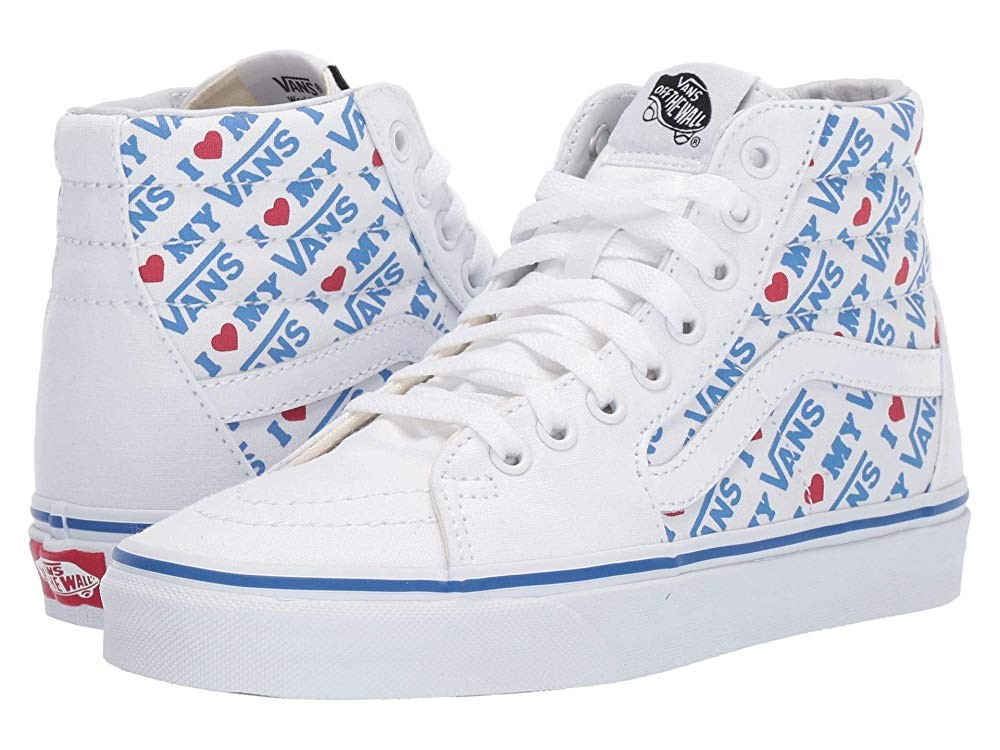 [ Hot Deals ] Vans SK8-Hi™ (I heart Vans) True White/True White