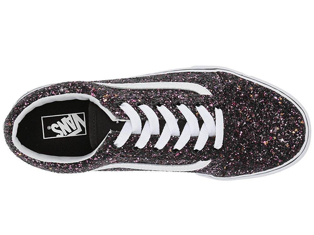 Buy Vans Kids Old Skool (Little Kid/Big Kid) (Glitter Stars) Black/True White