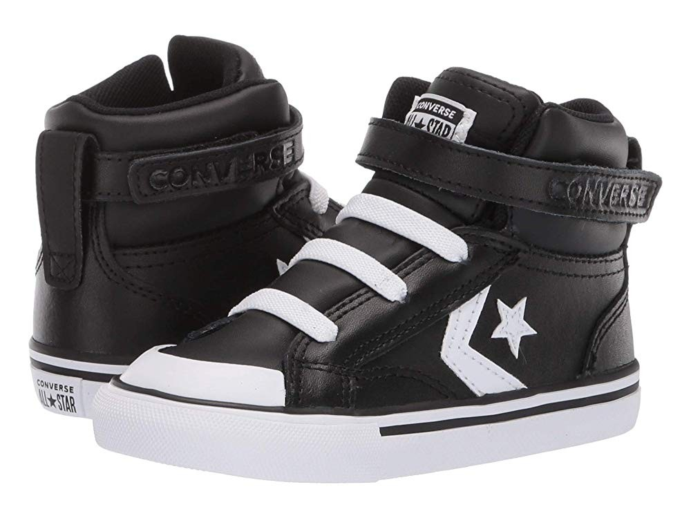 [ Hot Deals ] Converse Kids Pro Blaze Strap - Hi (Infant/Toddler) Black/White/White