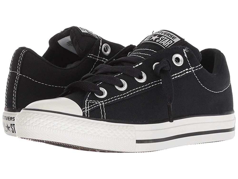 Black Friday Converse Kids Chuck Taylor® All Star® Street Ox (Little Kid/Big Kid) Black/Lily White Sale
