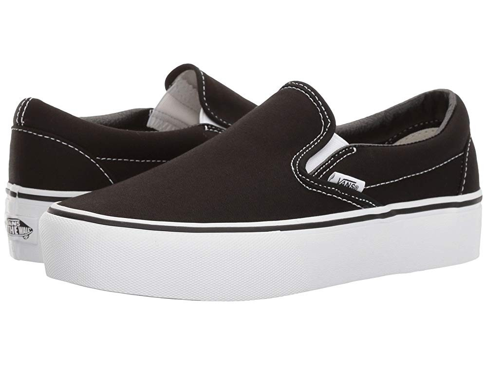 Christmas Deals 2019 - Vans Classic Slip-On Platform Black