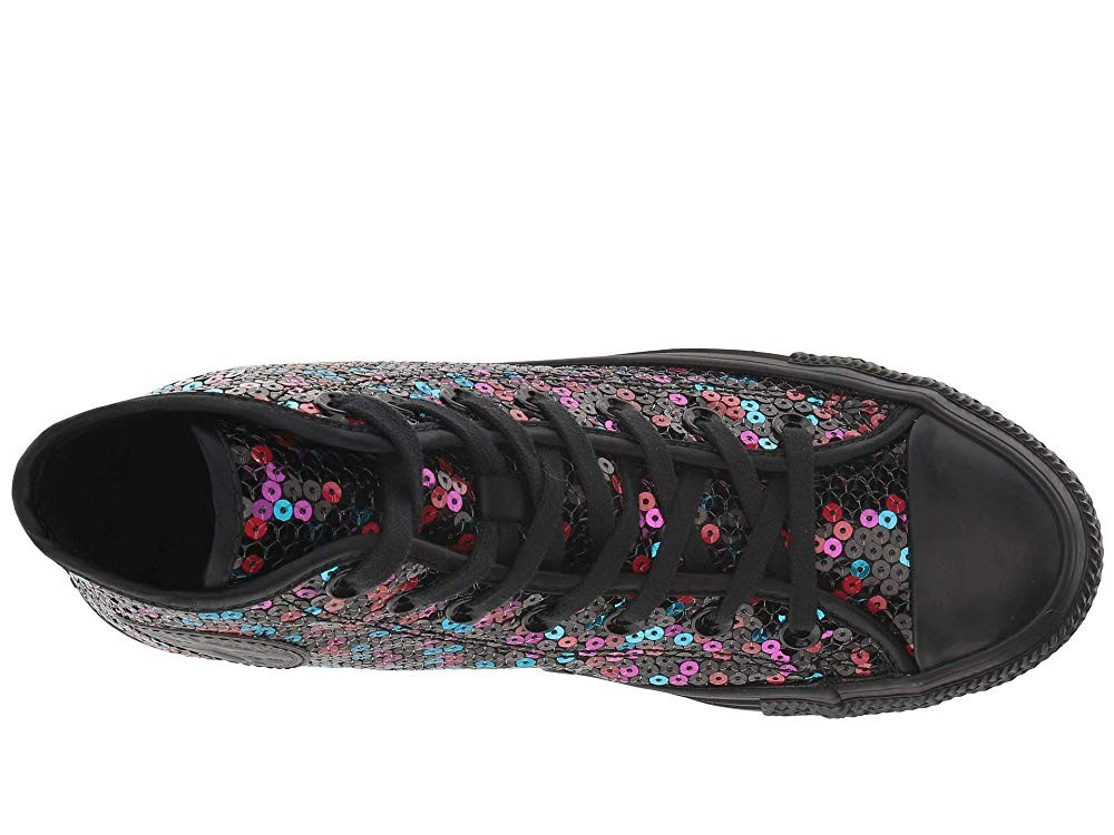 Black Friday Converse Chuck Taylor All Star Sequined - Hi Black/Blue/Cherry Red Sale