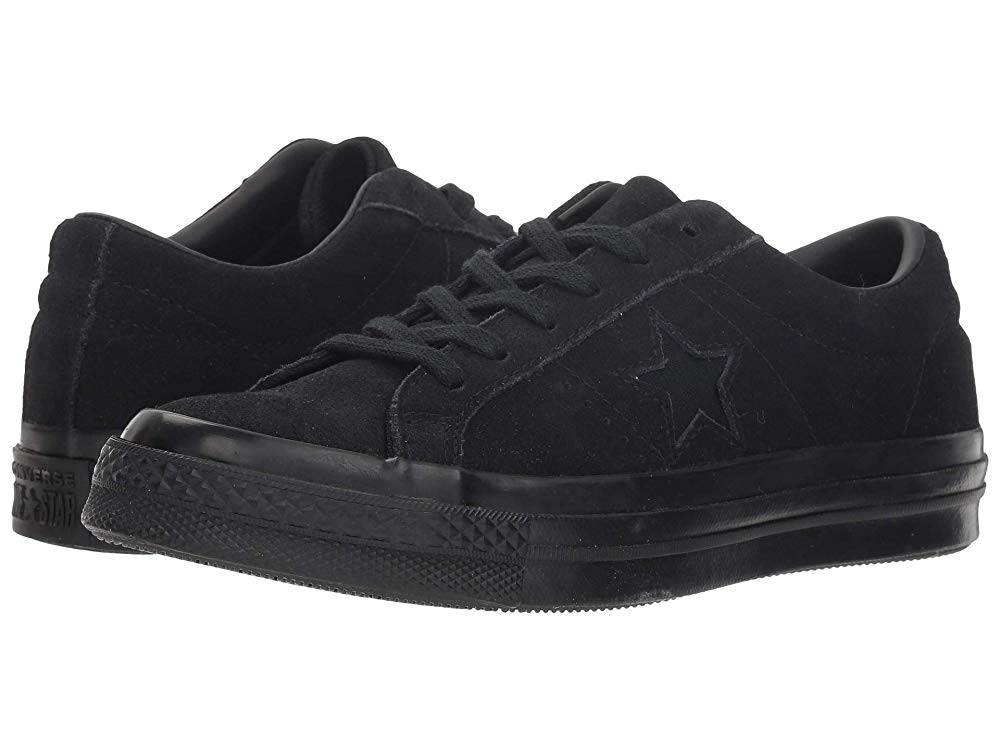 Hot Sale Converse Kids One Star - Ox (Big Kid) Black/Black/Black