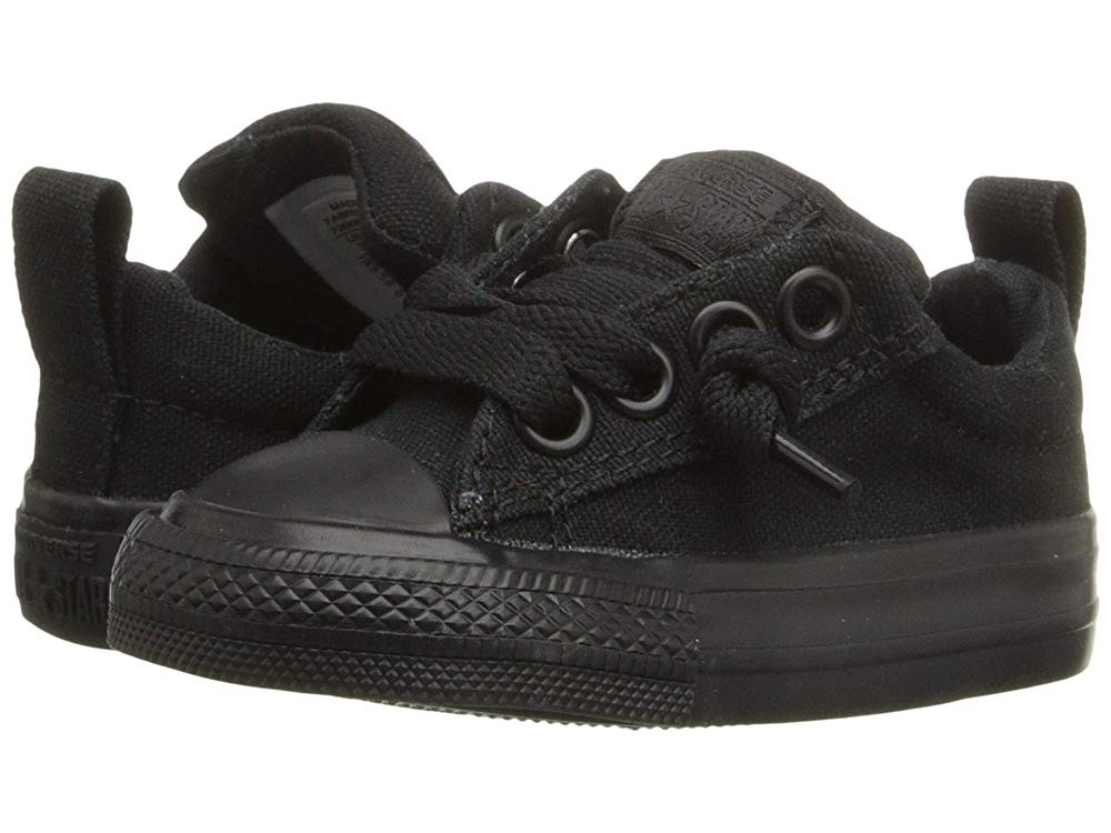 Converse Kids Chuck Taylor® All Star® Street Ox (Infant/Toddler) Black Monochrome