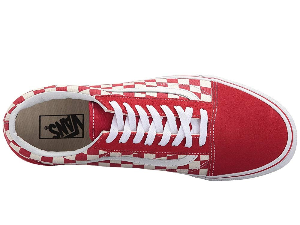[ Hot Deals ] Vans Old Skool™ (Primary Check) Racing Red/White