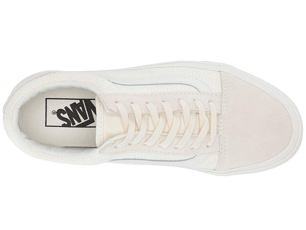 [ Hot Deals ] Vans Old Skool™ (Woven Check) Marshmallow/Snow White